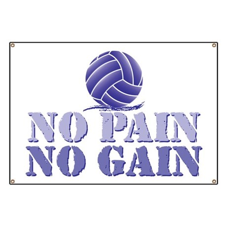 No Pain No Gain Volleyball Banner
