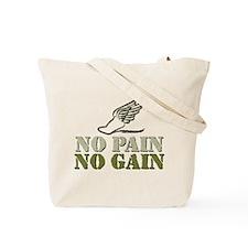 No Pain No Gain Volleyball Tote Bag