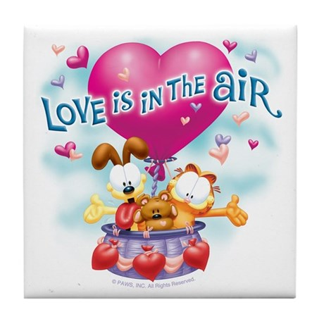 Love is in the Air Tile Coaster