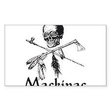 Mackinac Island Pirate Design Rectangle Decal