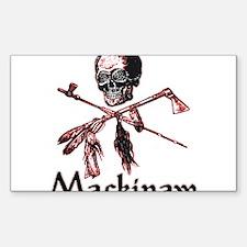 Mackinaw Pirate Rectangle Decal