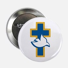 "Dove and Cross 2.25"" Button (10 pack)"