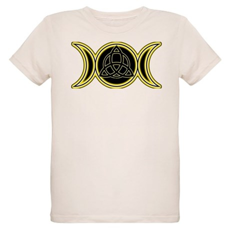 Triple Goddess Triquetra Organic Kids T-Shirt