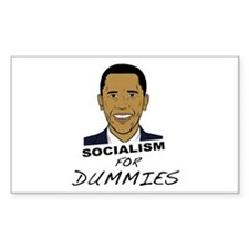 Socialism for dummies Rectangle Decal