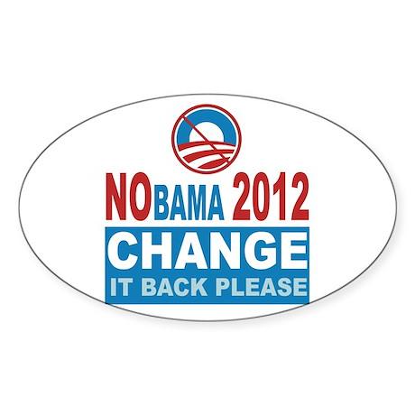 Not Obama 2012 Oval Sticker (50 pk)