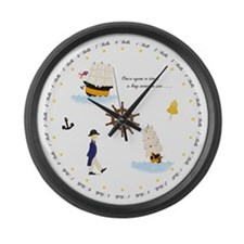 Once Upon a Time Nautical Large Wall Clock