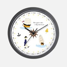 Once Upon a Time Nautical Wall Clock