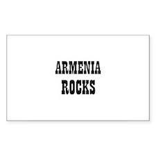ARMENIA ROCKS Rectangle Decal
