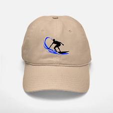Wave Surfing Baseball Baseball Cap