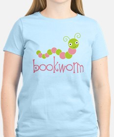 Cute Pink Bookworm T-Shirt