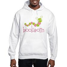 Cute Pink Bookworm Hoodie
