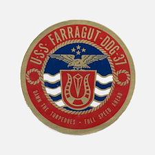 """USS FARRAGUT 3.5"""" Button (100 pack)"""