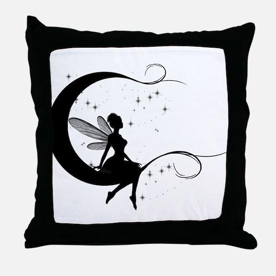 Fairy Moon Throw Pillow