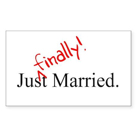 Finally Married Sticker (Rectangle)