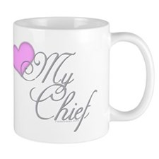 Heart my Chief (Navy Ladies) Mug