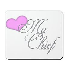 Heart my Chief (Navy Ladies) Mousepad