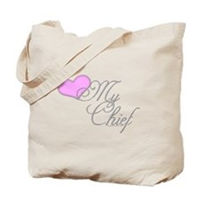 Heart my Chief (Navy Ladies) Tote Bag