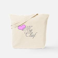 Heart my Chief (Navy Ladies) Tote Bag