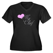 Heart my Chief (Navy Ladies) Women's Plus Size V-N