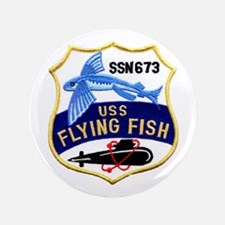 """USS FLYING FISH 3.5"""" Button (100 pack)"""