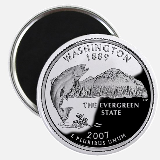 Washington State Quarter - Fridge Magnet