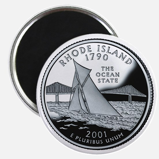 Rhode Island State Quarter - Fridge Magnet