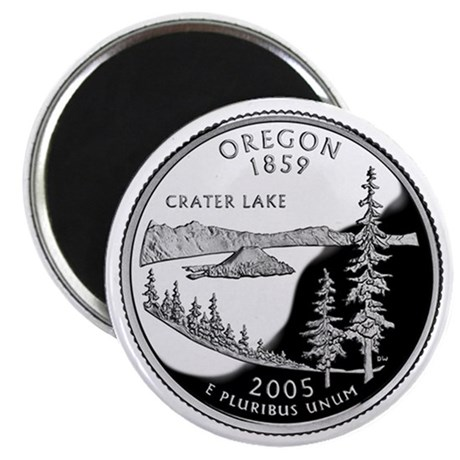 Oregon State Quarter - Fridge Magnet