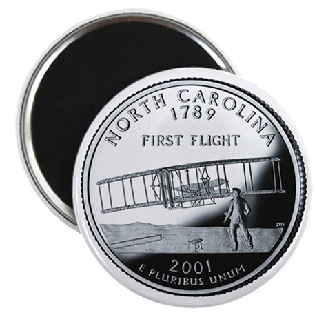 North Carolina State Quarter - Fridge Magnet