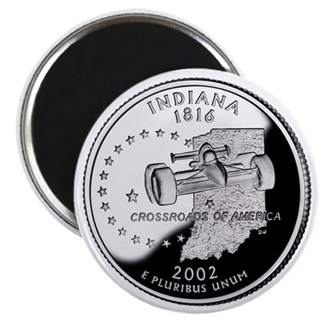 Indiana State Quarter - Fridge Magnet