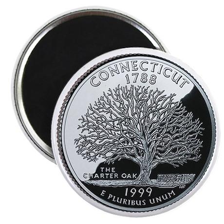 Connecticut State Quarter - Fridge Magnet