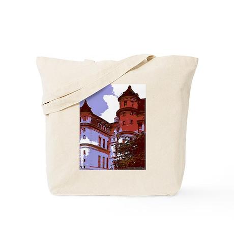 Sunlit Courtyard Tote Bag