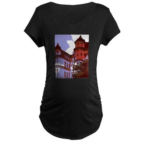 Sunlit Courtyard Maternity Dark T-Shirt