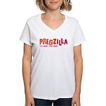 Pregzilla Women's V-Neck T-Shirt