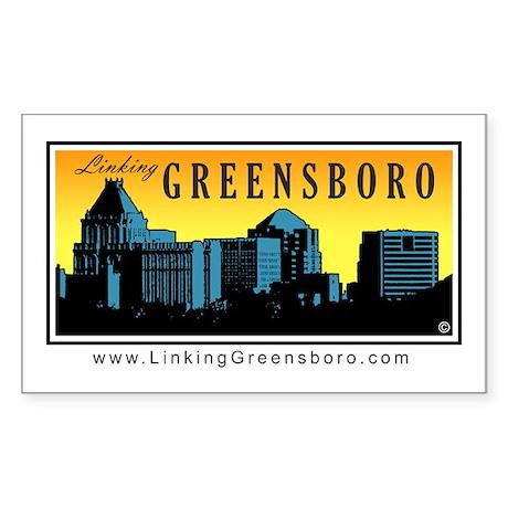 Linking Greensboro Rectangle Sticker