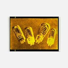 Glowing Flash Vacuum Tubes Rectangle Magnet