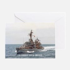 USS FORREST ROYAL Greeting Card