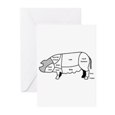 Pork Diagram Greeting Cards (Pk of 20)