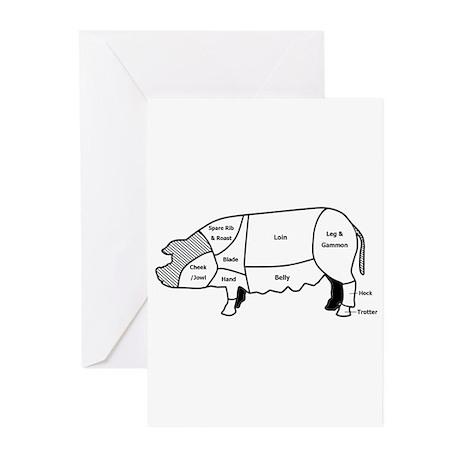 Pork Diagram Greeting Cards (Pk of 10)