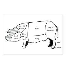 Pork Diagram Postcards (Package of 8)