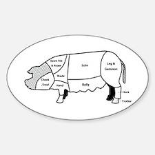 Pork Diagram Oval Decal