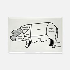 Pork Diagram Rectangle Magnet (100 pack)