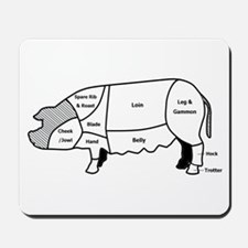 Pork Diagram Mousepad