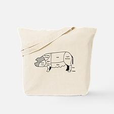 Pork Diagram Tote Bag