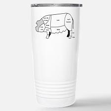 Pork Diagram Stainless Steel Travel Mug