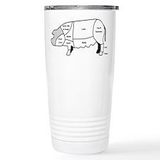 Pork Diagram Travel Coffee Mug