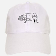 Pork Diagram Baseball Baseball Cap