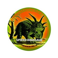 """PS SPiked Dino 3.5"""" Button"""