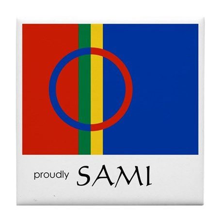 Proudly Sami Tile Coaster