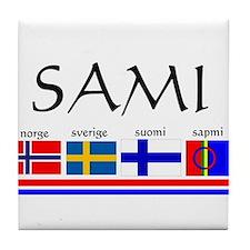 Sami souvenir Tile Coaster