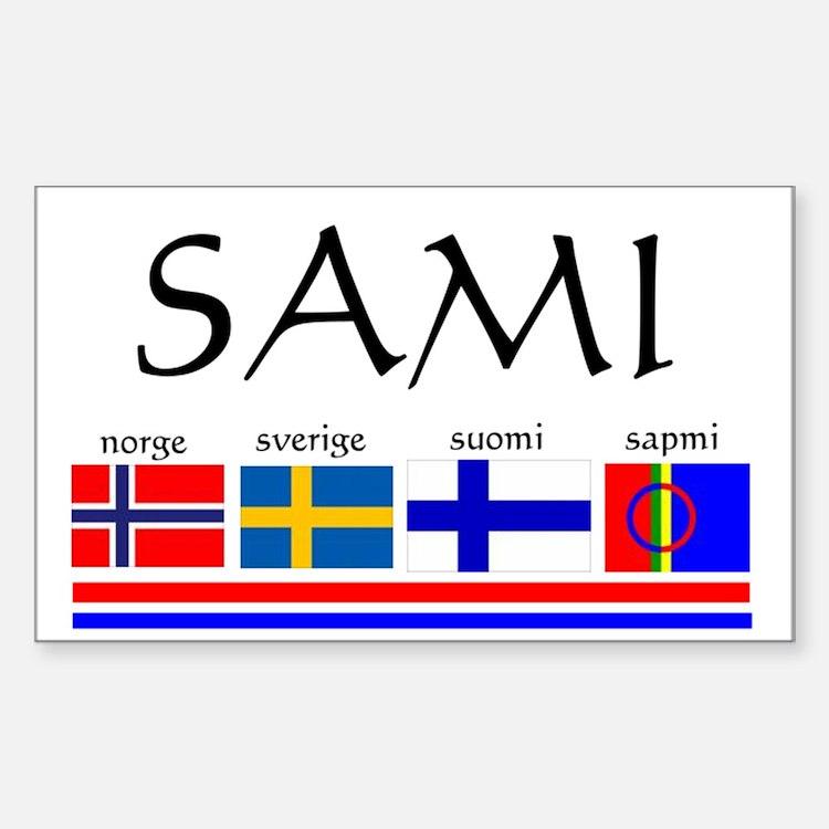 Sami souvenir Sticker (Rectangle)